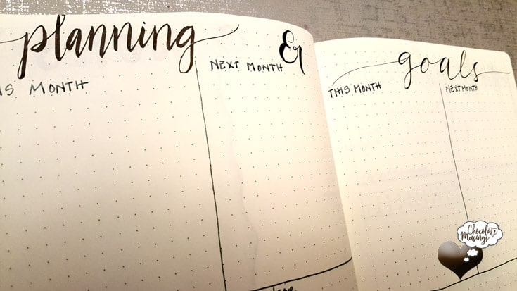 Goals & Plans a Defined Timeline - setting up for this month, next month & next year