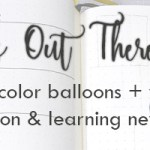 January Planner Week 2: Learning to Paint Balloons – it's an adventure