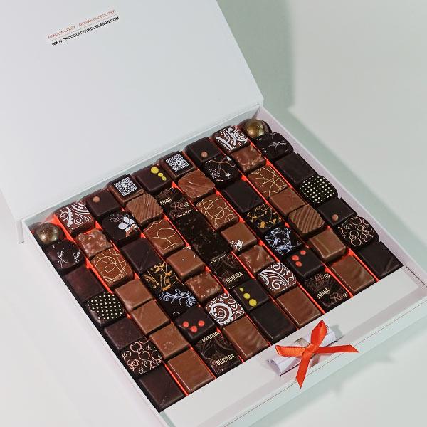 """Coffret-de-63-bonbons-de-chocolat-""""Ghana"""""""
