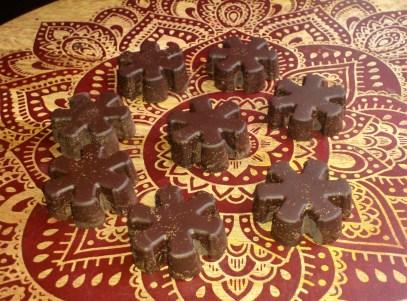 sugar-free plain dark snowflakes