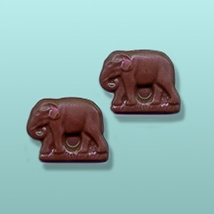 2 pc. Chocolate Elephant Mini Favor