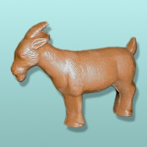3D Solid Chocolate Goat