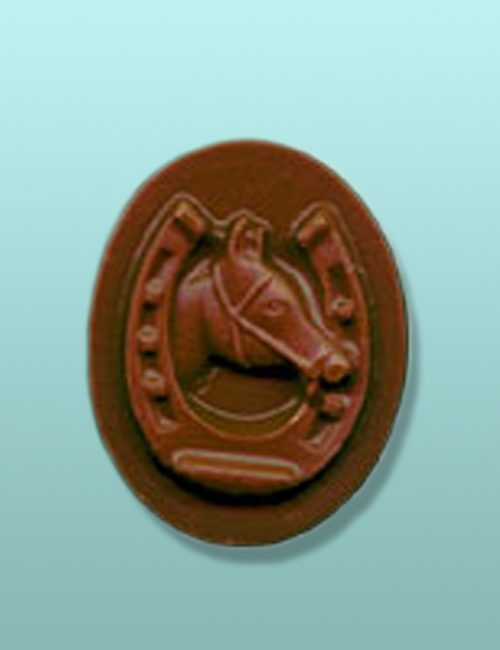 Chocolate Oval Horseshoe II Favor