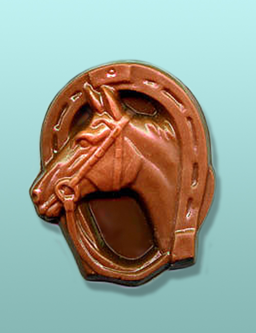 Chocolate Horseshoe Horse III Party Favor