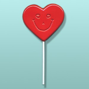 Smiley Heart Lolly Favor