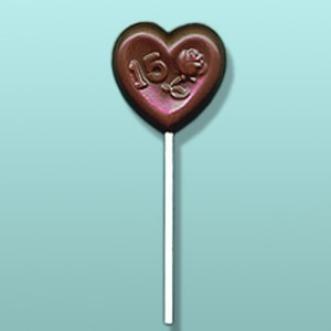 Chocolate 15 Rose Heart Favor