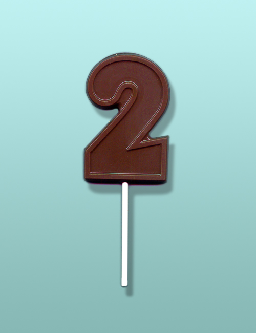 Chocolate Number 2 Party Favor