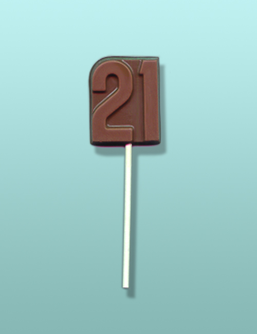 Chocolate Number 21 Party Favor