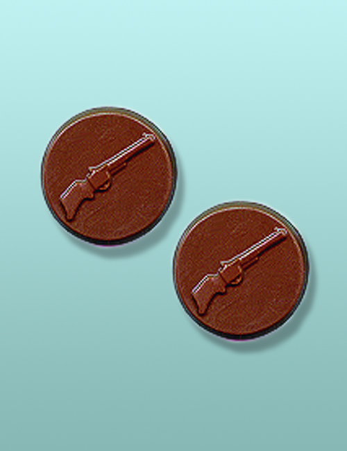 2 pc. Chocolate Rifle Round Favor