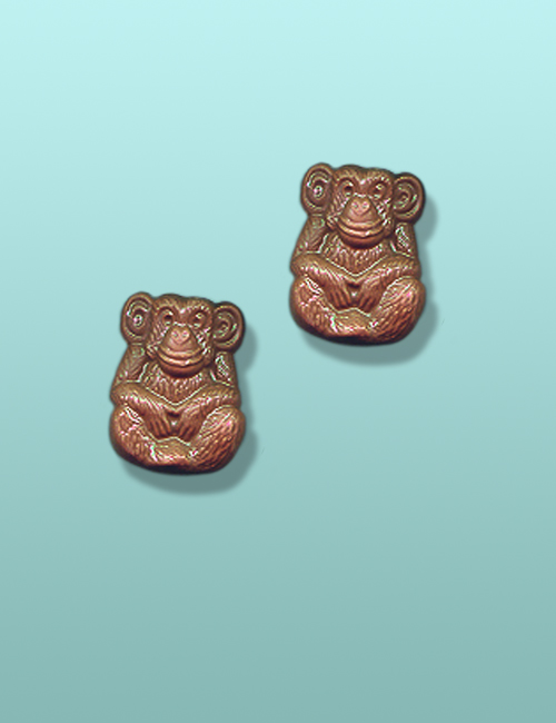 2 pc. Chocolate Chimpanzee Mini Favor