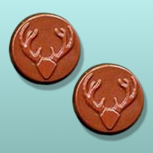 2 pc. Chocolate Buck Round Party Favor