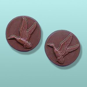 2 pc. Chocolate Mallard Duck Round Favor