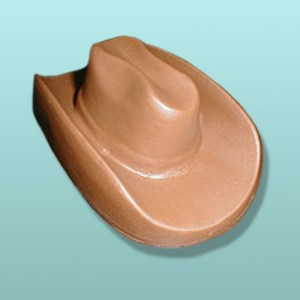 3D Chocolate Cowboy Western Hat