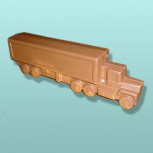 3D Chocolate Tractor Trailer Truck - Large