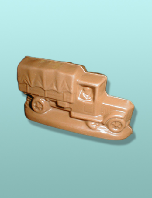 3D Chocolate Military Supply Truck