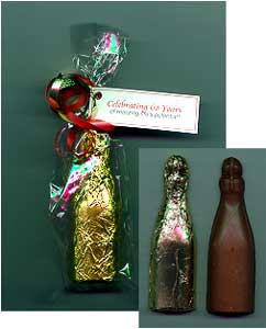 3D Chocolate Mini Champagne Bottle Favor
