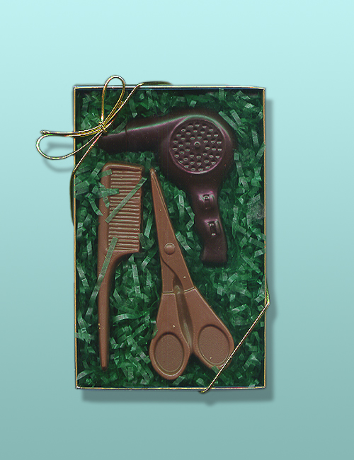 3 pc. Chocolate Hair Dresser Gift Set