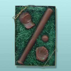 4 pc. Chocolate Baseball Gift Set