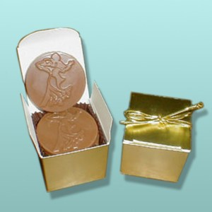 Chocolate Ballroom Favor in Gold Box - 4 pc.