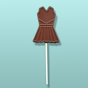Chocolate Cheerleader Dress Party Favor