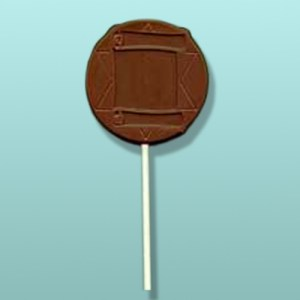 Chocolate Torah Scroll Round Lolly