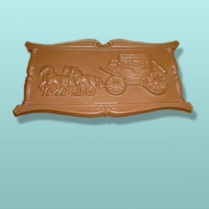 Chocolate Western Stagecoach Plaque