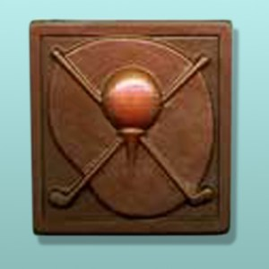 Chocolate Crossed Golf Clubs Plaque