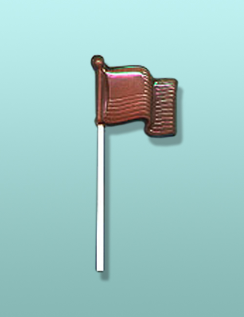 Chocolate American Flag Lolly