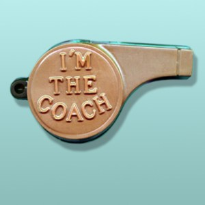 3D Chocolate Coach's Whistle