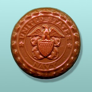 Chocolate Navy Medallion Favor