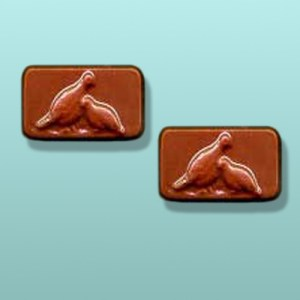 2 pc. Chocolate Quail Game Bird Party Favor