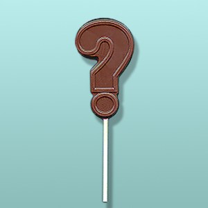 Chocolate Question Mark Party Favor