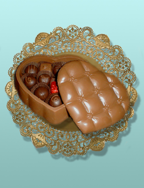 Edible Chocolate Quilted Heart Box