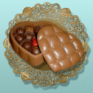 Molded Edible Chocolate Valentine Boxes