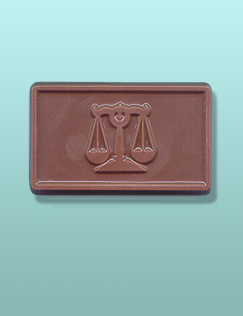 Chocolate Scales of Justice Bar Favor