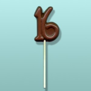 Chocolate Number 16 Sweet Sixteen Favor