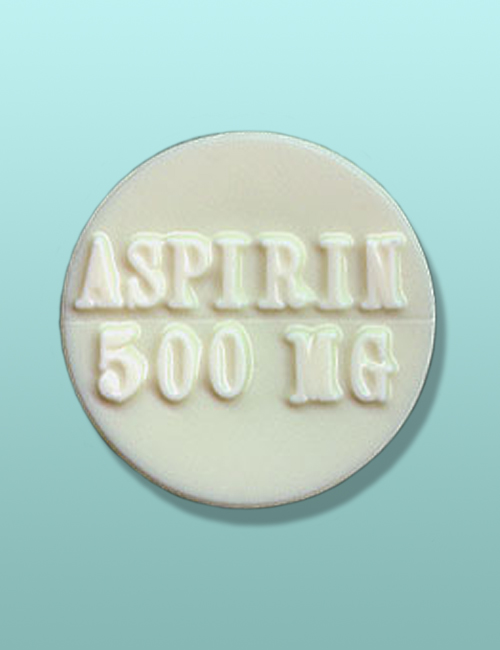 Chocolate 500 MG Aspirin Favor