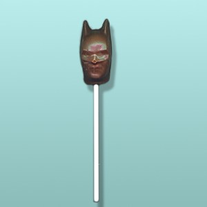 Chocolate Batman Superhero Head Lolly