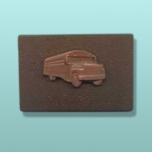 Chocolate School Bus Plaque