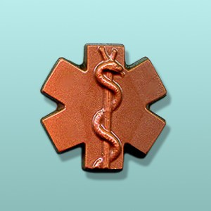 Chocolate Caduceus Symbol Favor