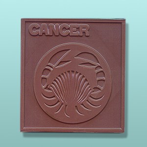 Chocolate Cancer Zodiac Plaque