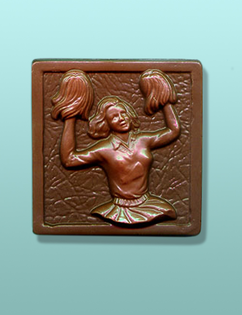 Chocolate Cheerleader Plaque