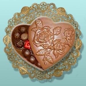 Chocolate Rose Heart Large Box Assortment