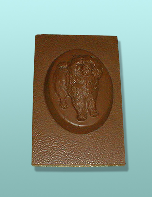 Chocolate Chow Chow Dog Flat Plaque