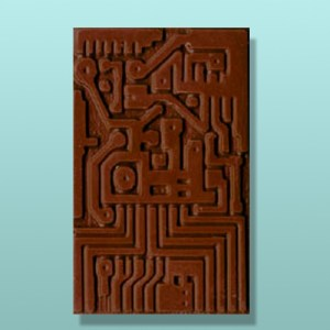 Chocolate Circuit Board Party Favor