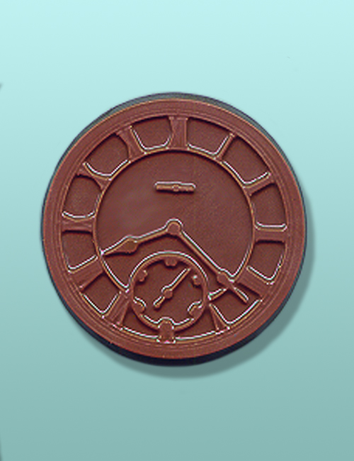 Chocolate Roman Numeral Clock Favor