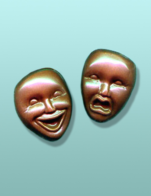2 pc. Chocolate Comedy Tragedy Mini