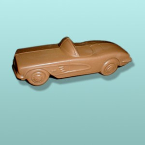 3D Chocolate Convertible Sports Car