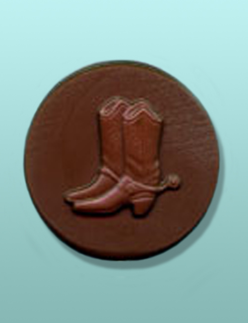 Chocolate Cowboy Boots Round
