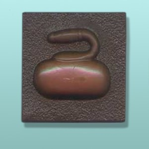 Chocolate Curling Sport Plaque